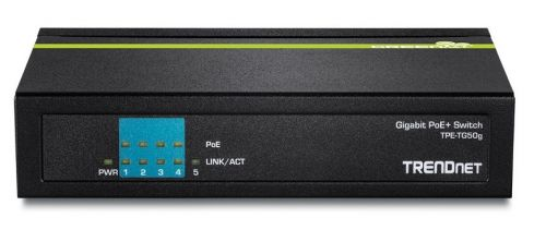 SWITCH TRENDNET TPE-TG50G GIGABIT POE DE 5 PUERTOS