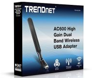 ADAPTADOR USB TRENDNET TEW-806UBH WIRELESS AC600 HIGH GAIN DUAL BAND
