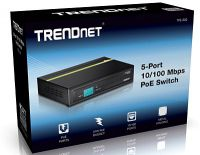 SWITCH TRENDNET TPE-S50 5 PUERTOS  10/100 MBPS POE
