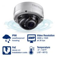 CAMARA IP TRENDNET TV-IP345PI INDOOR / OUTDOOR 4 MP VARIFOCAL POE IR DOME