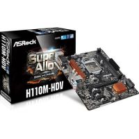 MOTHER BOARD ASROCK H110M-HDV LGA 1151 DDR4 HDMI-DVI-VGA